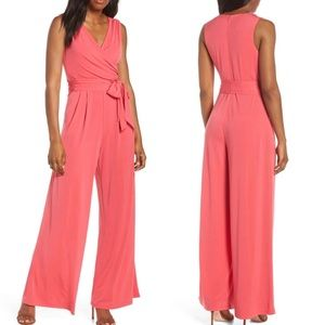 NWT Eliza J Faux Wide Leg Sleeveless Jumpsuit